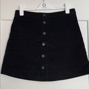 American Apparel Button-Up Corduroy Mini Skirt
